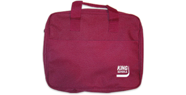 <i>KING</i> Burgandy Tote Bag