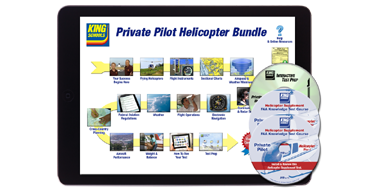 Private <br />Ground School and Test Prep Course  Helo Suppl. Bundle - Online/Disc