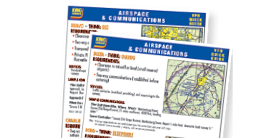 Airspace & Communications Cockpit Card