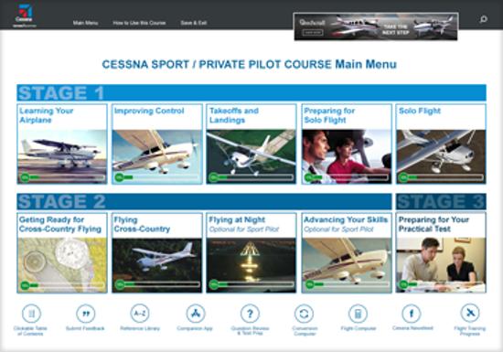 Cessna Sport / Private Pilot Main Menu